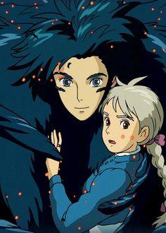 A Hayao Miyazaki masterpiece: Howl's Moving Castle Hayao Miyazaki, Howl's Moving Castle, Howls Moving Castle Wallpaper, Studio Ghibli Art, Studio Ghibli Movies, Film Anime, Manga Anime, Anime Art, Original Anime