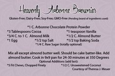Amazing Arbonne Protein Powder Brownies....super moist and 28 Day Challenge Approved!