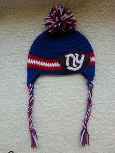 Crochet NY Giants Hat by Four29Design on Etsy Crochet Hats 82c6cd368225