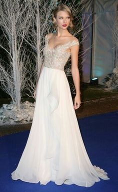White dress with tailor swift