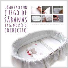 Cómo hacer unas sábanas para moisés o capazo #DIY #Tutorial #bebé
