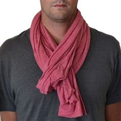Mens Active Scarf in Ruby - Sweat wicking, anti stink & SPF 20  $32
