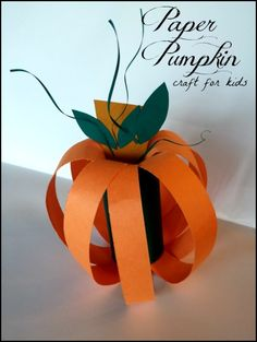 paper pumpkin craft for kids
