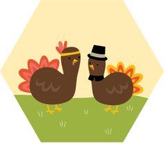 calendar // print & post thanksgiving turkeys