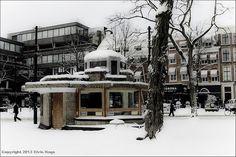 Berlage in de sneeuw / Buitenhof / Den Haag