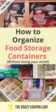 We all have one: a place where food storage containers are kept a. the Tupperware cabinet. If yours is like mine, then it's a mess of plastic food storage lids and containers that aren't nested.