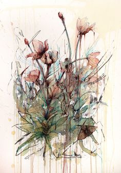 View Carne Griffiths's Artwork on Saatchi Art. Find art for sale at great prices from artists including Paintings, Photography, Sculpture, and Prints by Top Emerging Artists like Carne Griffiths. Watercolor Paper, Watercolor Flowers, Abstract Flowers, Poppy Drawing, Original Art For Sale, Art Themes, Deviantart, Claude Monet, Artist At Work