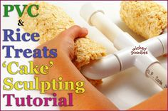 How to Sculpt Cakes Elements with PVC and Rice Treats