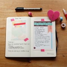 Karoeza: Journaling in my bullet journal for mothers day #keepingmemories. A free printable on www.karoeza.nl