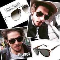 Chay Suede é bem eclético quanto aos modelos e marcas de óculos! Mas que a verdade seja dita: ele não fica bem com qualquer óculos?! #oculos #de #sol #oticas #wanny #persol #tom #ford #masculino #moda #solar #sunglasses #aviator