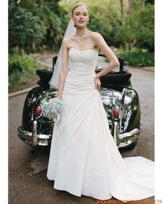 2013 Romantische Brautmode frankfurt kaufen online aus Satin mit Schleppe