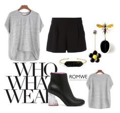 """Romwe"" by sonja666 ❤ liked on Polyvore featuring Who What Wear, Boutique Moschino and BaubleBar"