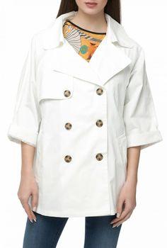 1e4389f406 MOLLY BRACKEN - Γυναικεία καπαρντίνα MOLLY BRACKEN λευκή