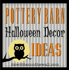 Pottery barn Halloween decor