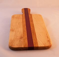 Cherry, Maple, and Purple Heart Cheese Board w/Handle