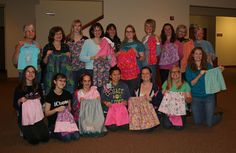 Wani's World: Operation Christmas Child - Craft Night-making skirts for the boxes