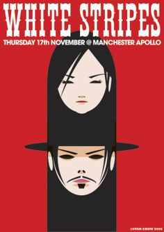 This is a bootleg gig poster I did a few years ago. It earned me some recognition, as from seeing this poster being posted on gigposters.com, The White Stripes asked me to design the USB stick for the release of their album 'Icky Thump'…. which also went on to be nominated for a grammy award… unfortunately it didn't win.