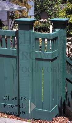 craftsman style bungalow fences - Google Search