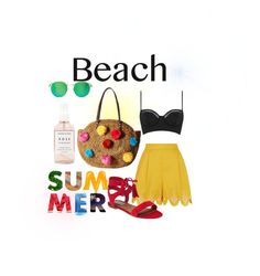 """Splash of Color"" by addisonportele on Polyvore featuring Herbivore, Topshop, Temperley London, Steve Madden, Sam Edelman, Wildfox, polyvorecontest and beachtotes"