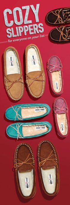 These #Minnetonka moccasin slippers are great to wear around the house!
