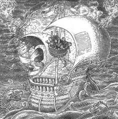 Totenkopf oder Schiff?