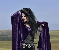 Velvet Vampyra Top - crushed velvet goth witch top by Moonmaiden Gothic  Clothing UK