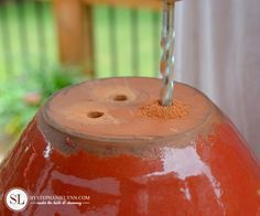 How to Drill Drainage Holes in Ceramic Flowerpots and Planters - bystephanielynn