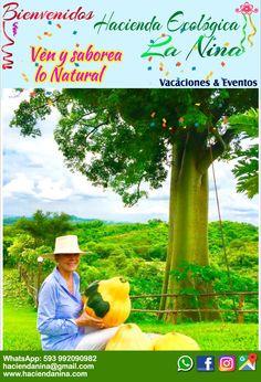 Eco-Hacienda La Nina.  Vacaciones y eventos al aire libre. #boda #cumpleaños #viajes #vacaciones  #photography #johnnychunga Contacto. WhatsApp: 09-92090982  Correo: haciendanina@gmail.com