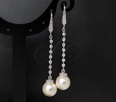 Pearl Earrings Wedding Jewelry Bridal by SeraphineCreations, $29.00