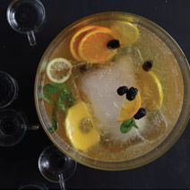 Champagne Punch-- drink recipes from the 50s