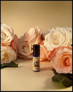 Rose Mallow Cream Perfume Oil Solstice Scents: Moroccan Rose absolute, Bulgarian Rose absolute, Marshmallow Fluff, Strawberry Nectar, White Chocolate, Vanilla, White Musk