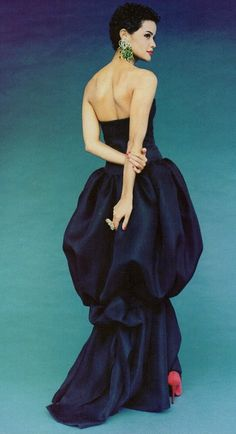 1992 Yves Saint Laurent Couture Spring with Nadège Dubospertus