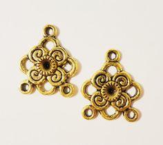 Antique Silver Earring Connectors Chandelier Earring Findings ...