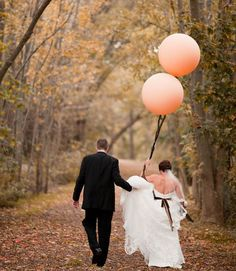 lovely balloon and couple