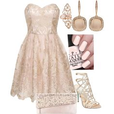 A fashion look from February 2015 featuring short evening dresses, sparkly high heel shoes and round purse. Browse and shop related looks.