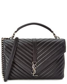 Saint Laurent Classic Large College Monogram Matelassé Leather Shoulder Bag  is on Rue. Shop it 91783bedd7