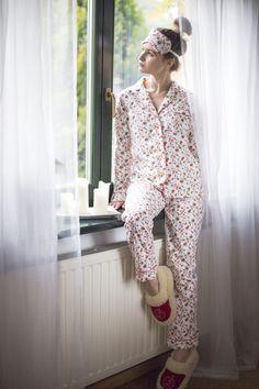 Piżama damska Laura Double Flowers   Lunaby