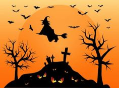Halloween Cemetery Vector - AI PDF - Free Graphics download
