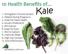 Do you eat Kale? There's so many benefits to eating it! #Kale