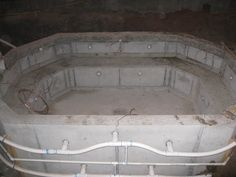 A 10x14 foot Concrete Hot Tub