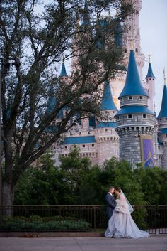Disney's Magic Kingdom is an excellent choice for a romantic portrait session at a classic fairy tale location. Photo: Stephanie, Disney Fine Art Photography