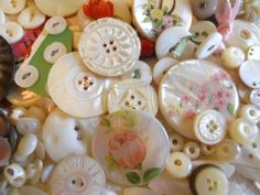 Vintage & Antique~Mother of Pearl~ Abolone~Shell Buttons