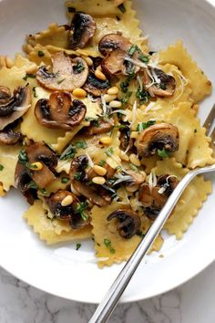 Ravioli with Sautéed Mushrooms | Green Valley Kitchen