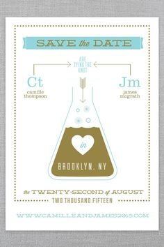 "Wedding Stationery That'll Make You Love Hipster ""I Dos"" #refinery29  http://www.refinery29.com/ice-cream-social#slide2  Shop Ice Cream Social's Cosmic Chemistry collection here."