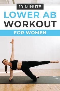 Tone your lower belly using just your bodyweight with this 10 minute LOWER ABS workout! Designed specifically for new moms trying to regain core strength after having babies, but these 10 lower abs…More Best Lower Ab Exercises, Great Ab Workouts, Effective Ab Workouts, At Home Workouts, Stomach Exercises, Core Exercises, Training Workouts, Fitness Exercises, Interval Training