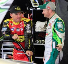 Clint Bowyer and Dale Earnhardt Jr