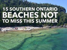 15 southern Ontario beachs not to miss this summer > Flowerpot Island - Tobermory Ontario Camping, Ontario Travel, Toronto Travel, Weekend Trips, Weekend Getaways, Day Trips, Beaches In Ontario, Tobermory Ontario, Flowerpot Island