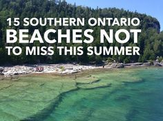 15 southern Ontario beachs not to miss this summer > Flowerpot Island - Tobermory