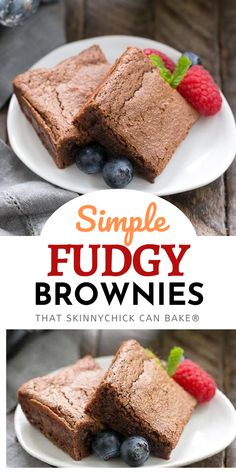 Simple Fudgy Brownies - An unusual technique to make the fudgiest brownies ever! Looking for the best brownie recipe? Give these a try!