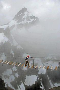 Andar en el cielo. Monte Nimbus, Canadá.